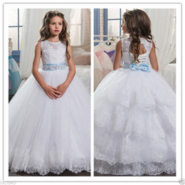 Flower Girl Dress Communion Party Prom Princess Pageant Bridesmaid Wedding AAA+
