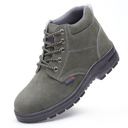 High shoe oil-resistant shoes anti-static shoes still providing the comfort benefits of a higher-cut shoe