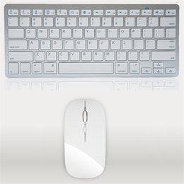 Wholesale Ultra Thin Wireless Keyboard Mouse Combo G Wireless Mouse for Apple Keyboard Style Mac Pc WindowsXP Tv Box