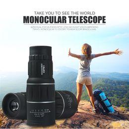 Lente de enfoque dual en Línea-16x52 Foco doble Zoom Lente óptica Día Visión nocturna Armadura Viajes Telescopio monocular Turismo Alcance Binoculares