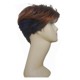 Free Shipping New Style Hair Wigs For Black Women Short Sythetic Hair Wig Mix Color With Bangs