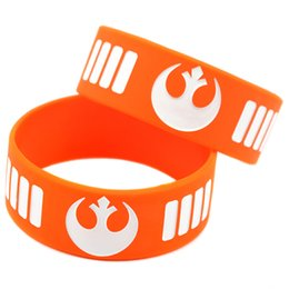 "Wholesale Shipping New Arrival 50PCS Lot Star Wars Rebel Alliance 1"" Wide Silicone Wristband Promotion Gift"