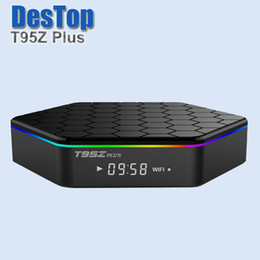 Acheter en ligne Amlogic android-T95Z Plus TV Box Android 7.1 Amlogic S912 Octa-core cortex-A53 2G 16G 2.4G 5G Wifi Bluetooth Gigabit set top box