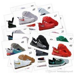 Kd chaussures de vente mens à vendre-Hot Sale KD 9 Chaussures de basket-ball pour hommes KD9 (50 couleurs) Oreo Loup gris Kevin Durant 9s Sports pour hommes Sports Sneakers Warriors Taille de la maison US7-