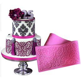 Decoration Border Lace Mat Impression Mats Silicone Baking Mat Cake Mold Sugar Lace Mat Cake Decorating Tools LFM-36