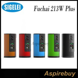 Wholesale Sigelei Fuchai Plus Mod W TC Box Mod Aluminum Alloy Construction Features TCR TFR Modes Requires Batteries Original
