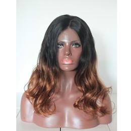 African American body wave ombre#1b 30 Glueless lace front wig full lace wig Peruvian malaysian Brazilian virgin human hair Freeshipping