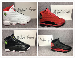 13s Classic 13 basketball shoes play Bred he got game Chicago DMP Black cat history of flight Barons grey toe Michael Sports
