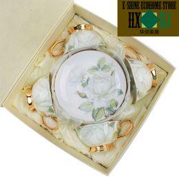 Starbucks cups European creative practical glass ceramic coffee cups Bone China
