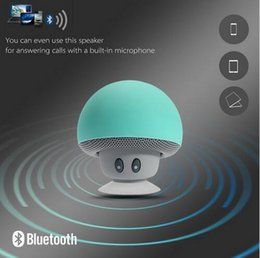 Wholesale 2016 Fashion Mini Bluetooth Mushroom Style With Mic Suction Wireless Stereo Subwoofer Bluetooth Speaker Mini Portable Speaker