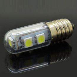Wholesale 2017 New x Mini E14 LED Lamps SMD W W W W W Crystal Chandelier V Spotlight Corn Bulbs Pendant Fridge Refrigerator Light