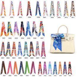Wholesale Scarf Handbag Wholesaler - mixcolors colorful fashion twilly scarf handbag handle decoration accessories handbag twilly brand bow hair bands scarves