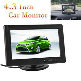 Lcd moniteur d'affichage vidéo en Ligne-8pcs 4,3 pouces 480 x 272 écran couleur TFT LCD 2 voies entrée vidéo Car Rear View Monitors Support multi-rôle CMO_332
