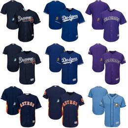 Wholesale Men Atlanta Braves Brooklyn Dodgers Colorado Rockies Houston Astros Tampa Bay Rays Spring Training Cool Base And Flexbase Team Jersey