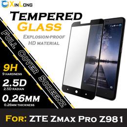 Wholesale Protector de pantalla de cristal templado de la pantalla plana para ZTE ZMAX PRO Z981 Vivo X7 V3 MÁX XIAOMI NOTA3 PRO con el embalaje al por menor