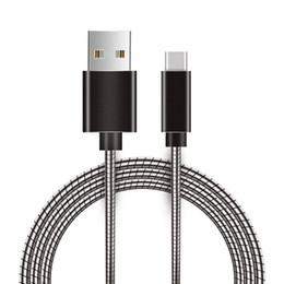 Micro USB Type C Charging Cable Metal Aluminium Alloy Snake Data Sync Type-C Spring for Samsung Galaxy Note8 Plus Huawei Android Phone