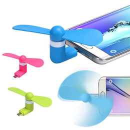 USB Mini Fan, Personal Quiet Portable 2 in 1 Port USB Micro USB Cooling Outdoor Sport Office Gadget Small Fan for Smartphone Android Iphone