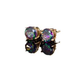 8MM New hot Fashion Popular Luxury Crystal Zircon Stud Earrings Elegant earrings jewelry for women jewelry earring