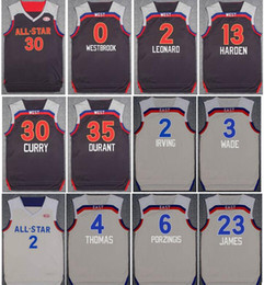 Wholesale 2017 All Star Jersey Westbrook Kevin Durant Stephen Curry Kyrie Irving Kawhi Leonard Harden Dwyane Wade Isaiah Thomas Paul