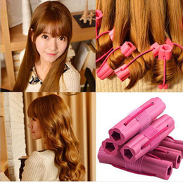 Wholesale 6 set Hair Rollers self adhesive sponge hair curler Styling Tools without hurting hair Beauty tool ZA2053