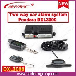 Wholesale Russia version two way car alarm system Pandora DXL3000 Engine starter way Auto alarm system Pandora DXL3000