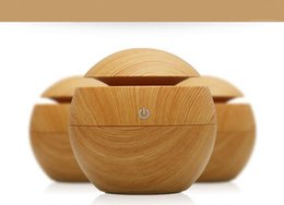 Wholesale 130ml Aroma Essential Oil Diffuser Wood Grain Ultrasonic Cool Mist Humidifier for Office Home Bedroom Living Room Study Yoga Spa