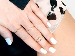 Superfine imitation diamond little finger ring 925 silver round cut zircon