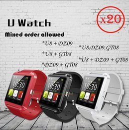 Wholesale 20 Mixed orders Bluetooth Smartwatch GT08 DZ09 U8 Smart Watch With bluetooth Function SIM Card Smart wrist freight free