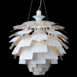 50CM Poul Henningsen PH Artichoke Ceiling Pendant Lamp Hanging Light European Modern Style Aluminum Body White Wine red Gold Silver Black