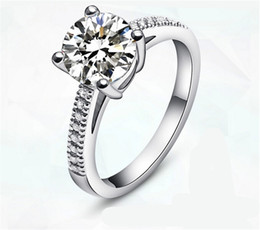 Visisap White Gold color Ring wedding engagement Rings For Women cubic zirconia Jewelry luxury bague Wholesale VSR094