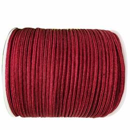 1mm Garnet Rattail Satin Braid Nylon Cord+Jewelry Accessories Thread Macrame Rope Shamballa Bracelet Beading Cords 350m Roll