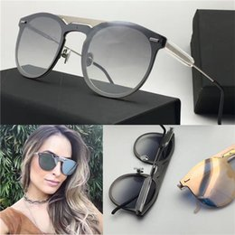 New fashion sunglass women deisnger summer style coating mirror lens top quality with original case round frame uv400 protection eyewear0211