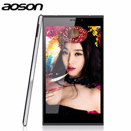 Promotion otg tablet pc Grossiste - Aoson M706T 3G Appel Tablet PC Android 4.4 MTK8382 Quad Core 1.3GHz Bluetooth Dual Caméras Wifi IPS Tablette 7 Pouces Noir