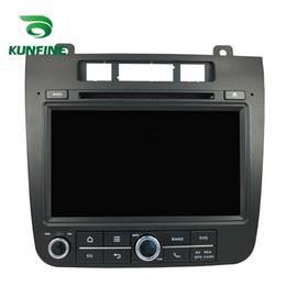 Consola gris en Línea-8 pulgadas Quad Core 1024 * 600 Android 5.1.1 coche DVD GPS navegador estéreo del coche para VW TOUAREG 2011-2014 Radio 3G Wifi BluetoothK KF-V2205Q