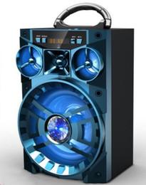 Boîte de haut-parleur de radio à vendre-MS-188BT Support de haut-parleur sans fil Bluetooth SD TF Mp3 Player USB 3.5mm Prise filaire Radio FM Haut-parleur Boîte de son de subwoofer