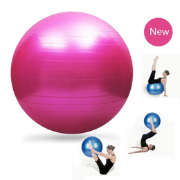 Wholesale cm Smooth PVC Yoga Ball Fitness Equipment Pilates Fitball Anti Explosion Gym Ball Aplicable For Pregnant With Free Pump