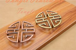 Wholesale Ancient China handle Red bronze Antique copper door knob pull kitchen cabinet drawer furniture accessory with pitch row mm