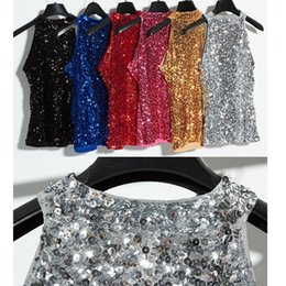 Sleeveless Sequined Nightclub Singer Dancewear Female modern Costumes outfits Hip Hop Jazz modern dance performance dance coat