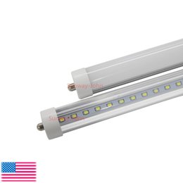 2017 cree llevó la garantía T8 FA8 Luces de tubo LED Single Pin led 8FT 45W 4800Lm bombillas SMD 2835 2400MM 8feet LED tubos fluorescentes de iluminación 3 años de garantía económico cree llevó la garantía