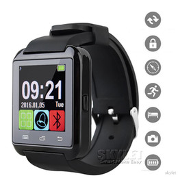 Bluetooth U8 Smartwatch Wrist Watches With Altimeter For iPhone 7 Samsung S8 Android Phone Smart Watch With Retail Package