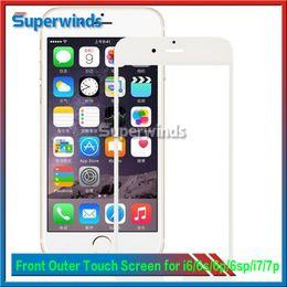Iphone vidrio de alta calidad en venta-Reemplazo exterior de la lente de cristal de la pantalla táctil del frente para el iPhone 6 más 6s 6S más 7 más envío libre vía DHL Alta calidad