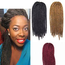 24 Inch Havana Mambo Synthetic Twist Crochet Braids Hair Senegalese Crochet Braiding Hair Extensions