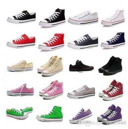 Wholesale 2017 nouveaux arrivent le bas dessus classique de haute qualité de RENBEN haut Haut chaussures de toile occasionnels de sneaker hommes chaussures de toile des femmes drop shipping