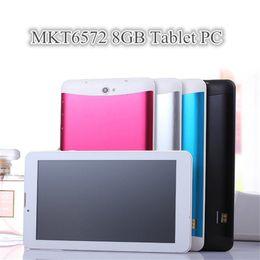 "Compra Online Dhl de la tableta de 8 gb-1X DHL 7 ""7 pulgadas 3G teléfono llamada Tablet PC MTK6572 Dual Core Android 4.4 Bluetooth Wifi 8GB 512MB de doble cámara de tarjeta SIM GPS"