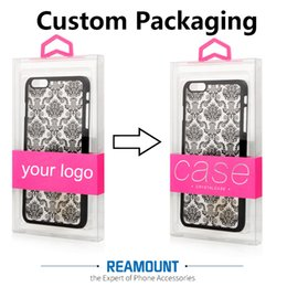 Wholesale New Design Print Your Brand Name PVC Packaging Box Retail Package for Cell Phone Case for iPhone 7 7 Plus