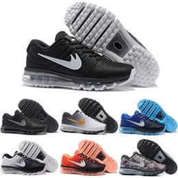 Wholesale 2017 Cheap Running Shoes Men 2017 Sneakers High Quality Original Discount Air Walking Blue Green Men's Sports Shoes Size 7-12