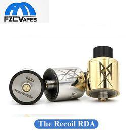 Wholesale Newest The Recoil RDA Clone mm Diameter mm Rebuild Deck Peek Insulator Thread Dual Coil Rebuidable Atomizer Tank E Cig Vape