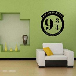 New Style For Harry Potter Platform 9 3 4 Kings Cross Cut Vinyl Removable Wall Art Sticker Decal Bedroom Sitting Room Diy