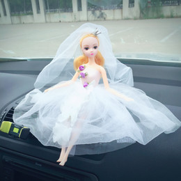 Wedding Doll with Active joint Car decoration doll Interior Decorations