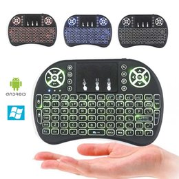 VONTAR i8+ Mini Wireless Backlight Keyboard 2.4GHz Air Mouse Gaming Handheld Touchpad for X96 T95X MXQ Pro Android TV BOX